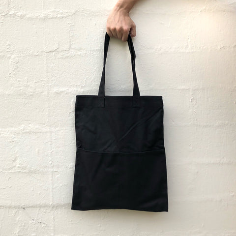 Double Pocket Tote - Black