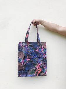 Double Pocket Tote - Neon Floral