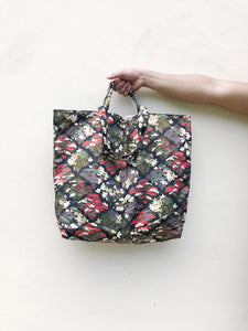 Japanese Cotton Flora Patch Print XL Tote