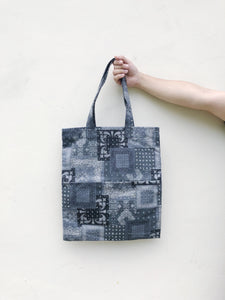 Double Pocket Tote - Aztec Patchwork Print