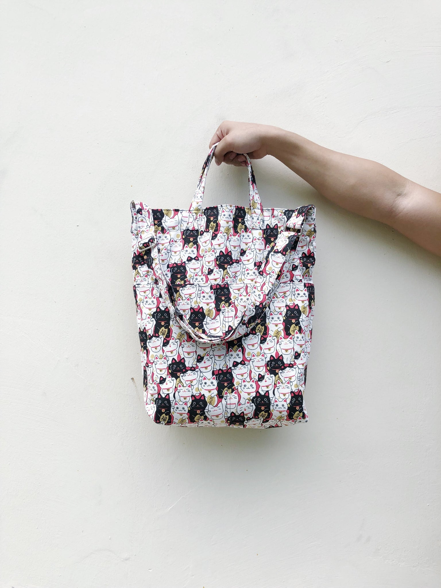 Fortune Cat Print Handy Sling