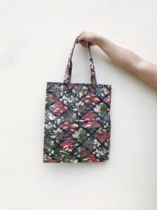 Double Pocket Tote - Japanese  Cotton Floral Print