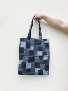Double Pocket Tote - Japanese Patchwork Cotton