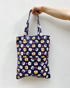 Double Pocket Tote - Blue Shiba Icon