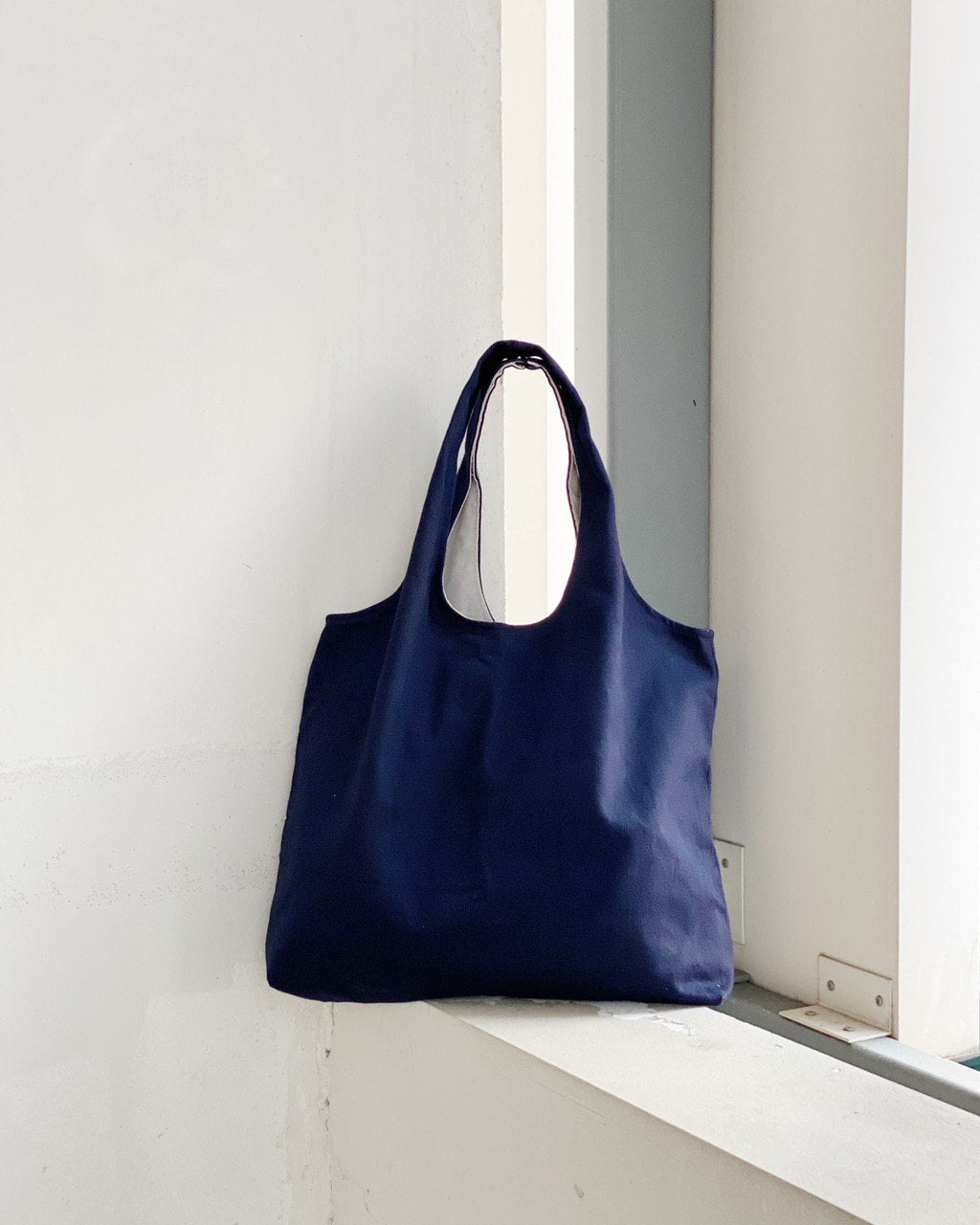 Shopper Tote - Navy (Canvas)