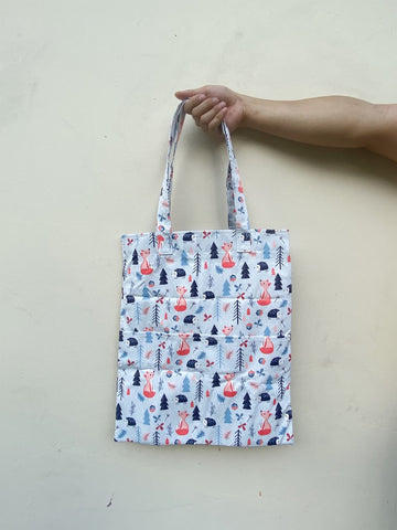 Double Pocket Tote - (Water-Repellent)