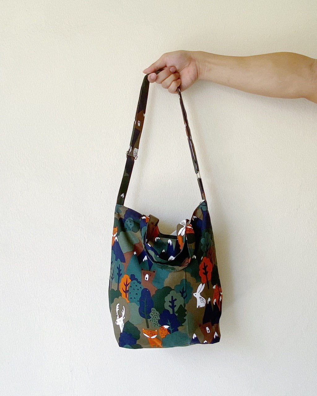 Mini/Small Sling Tote - Forest Avenger