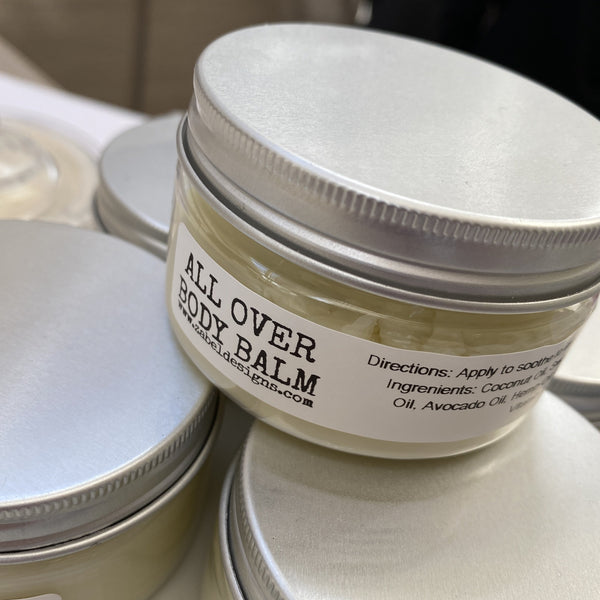 All over body balm. Body Balm. Vegan. Balm.
