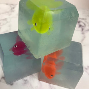 Mr Fish Cube Soap handmade by Zabel Designs & Zabel Bath Bakery