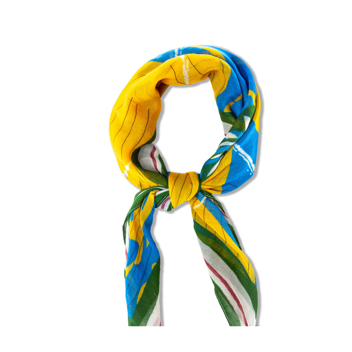 headscarf Yellow Blue