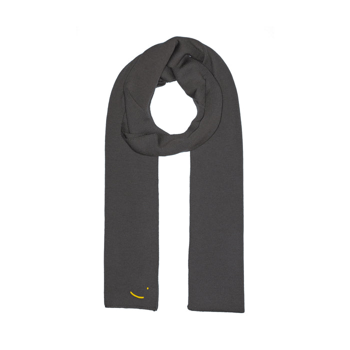 Organic Merino Wool scarf Dark Grey