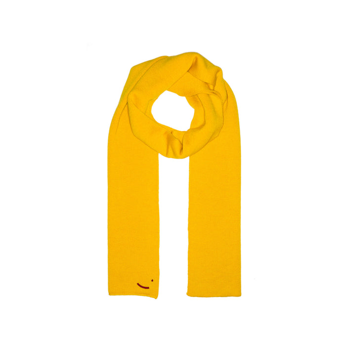 Organic Merino Wool scarf Yellow