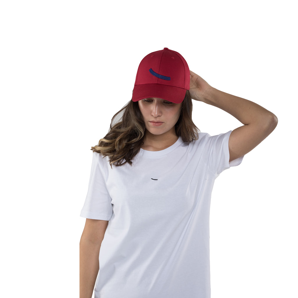 Baseball cap red hatsup