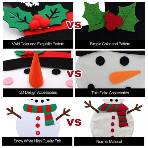 Image of DIY Felt Snowman Set for Kids