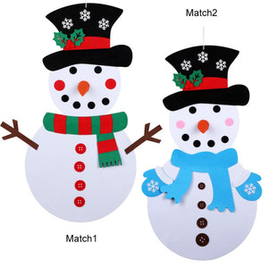 DIY Felt Snowman Set for Kids