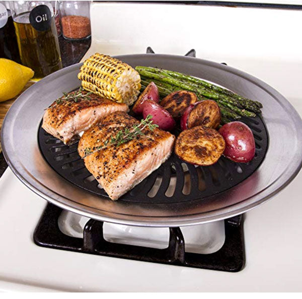 Kitchen Stove Top Smokeless Grill BBQ