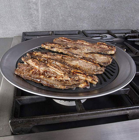 Image of Kitchen Stove Top Smokeless Grill BBQ