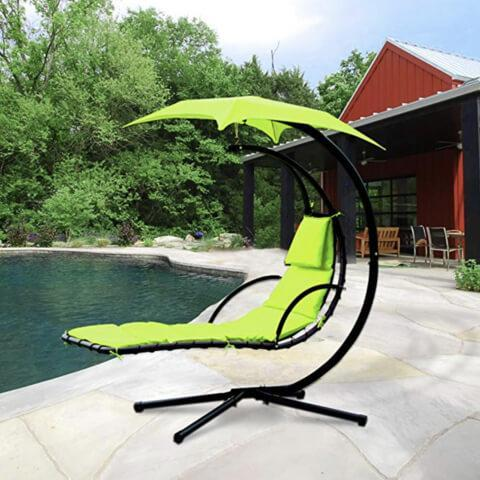 Image of Hanging Chaise Lounger Chair