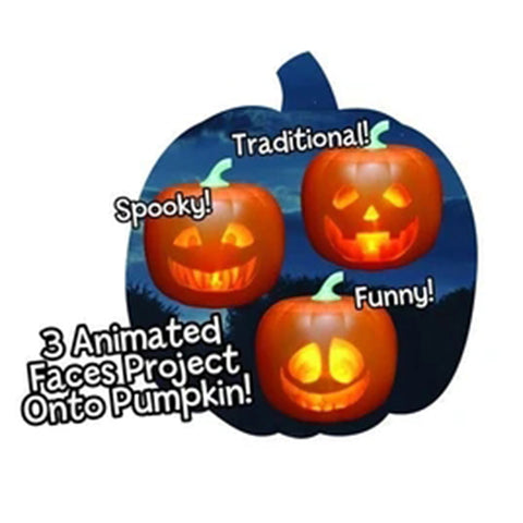 Image of Halloween Talking Animated Pumpkin with Built-In Projector & Speaker