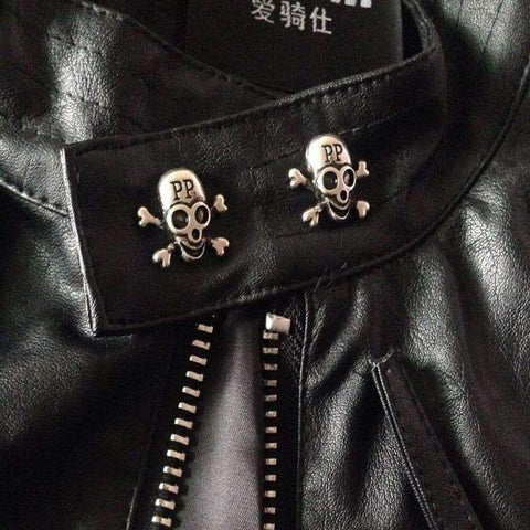 Image of HIGH QUALITY SKULL LEATHER JACKET (ASIAN SIZES, CHECK TABLE PLEASE)