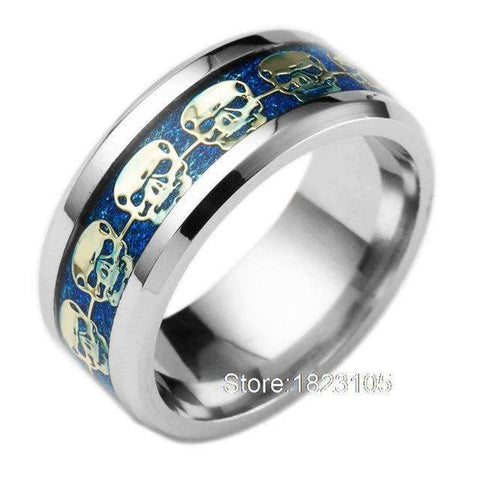 Skull Filled Pattern Ring