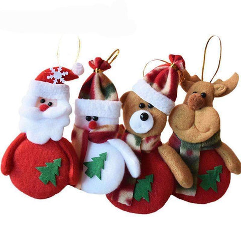 Image of Chrismas Tree Santa Claus Decorations For Home 24 PCS Set