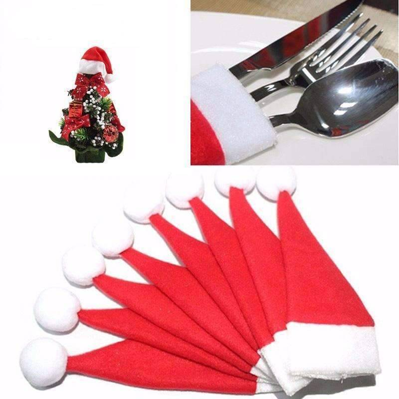 Christmas Silverware Mini Holder 10 PCS SET