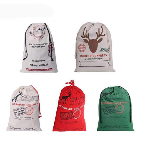 Image of Christmas Santa Candy Bag for Kids