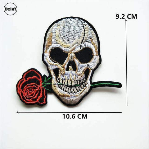 Image of Rose Skull Clothes Patches