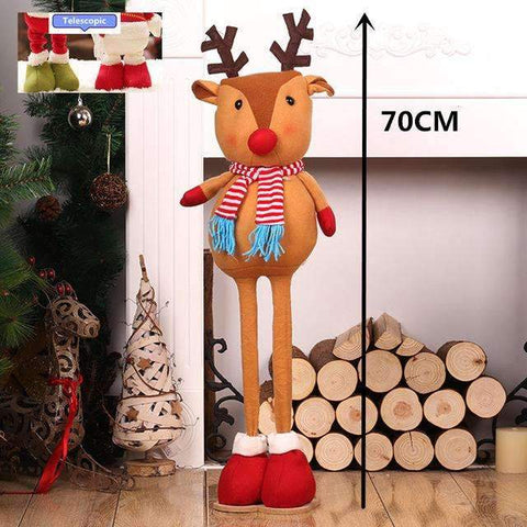 Image of The World`s best Retractable Christmas Santa Claus/Snowman/Deers dolls