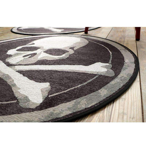 Image of Skull Round Carpet