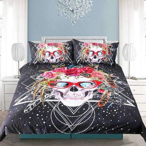Image of 3D SKULL BEDDING SET