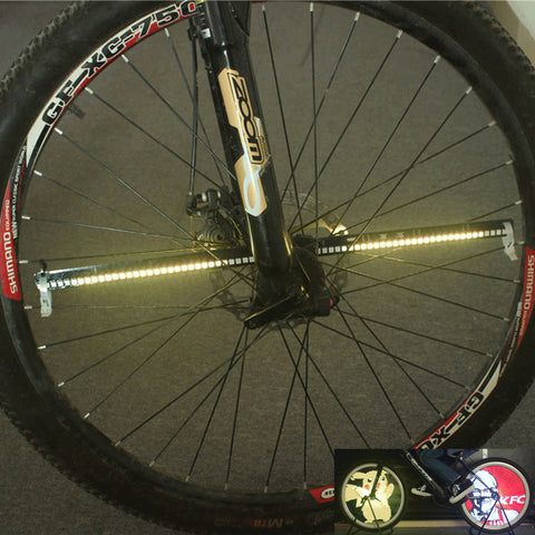 Programmable 128 LED Bike Spinner Lights