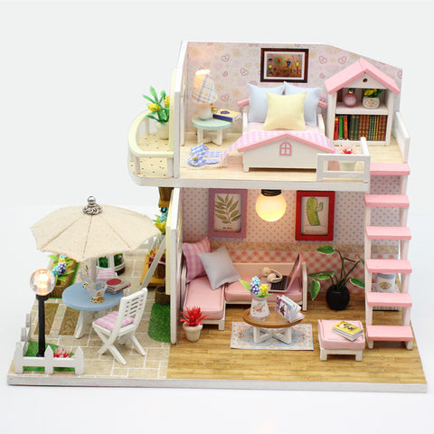Image of DIY DollHouse Pink Loft Villa