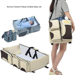 3-in-1 Baby Bag, Travel Bassinet & Change Station