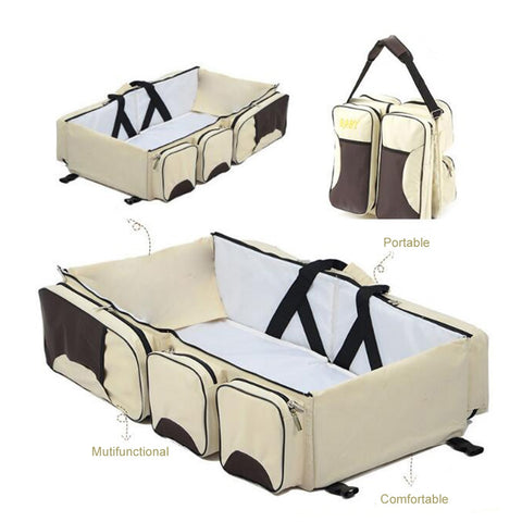 Image of 3-in-1 Baby Bag, Travel Bassinet & Change Station