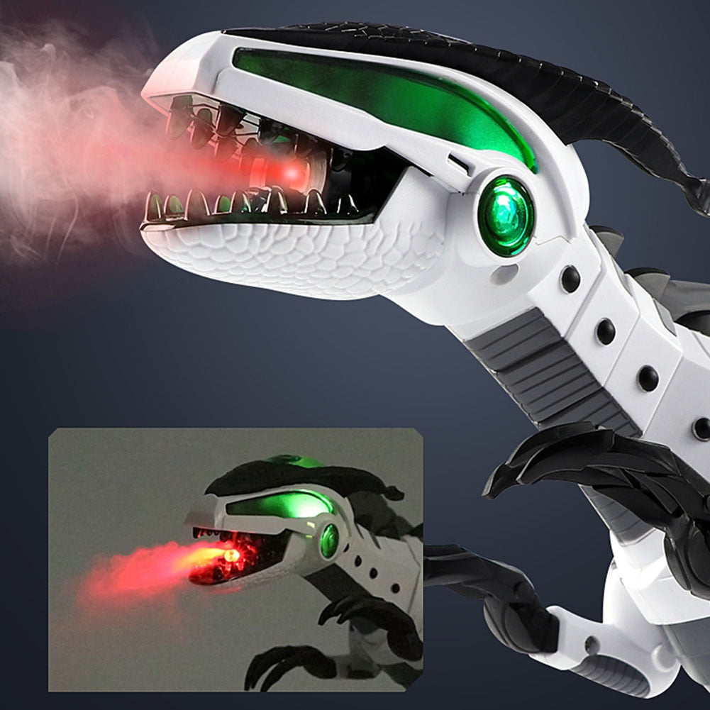 Electronic Mist Spray Light Up Walking Dinosaur