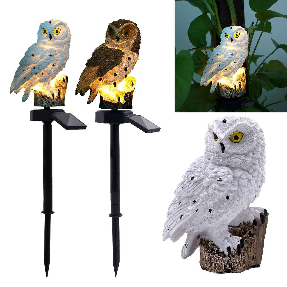 Owl Solar Light With Rechargeable Battery