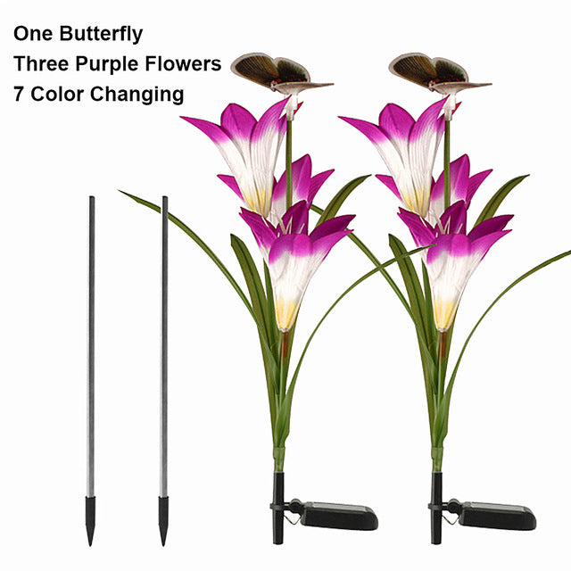 Solar Powered Butterfly Flowers