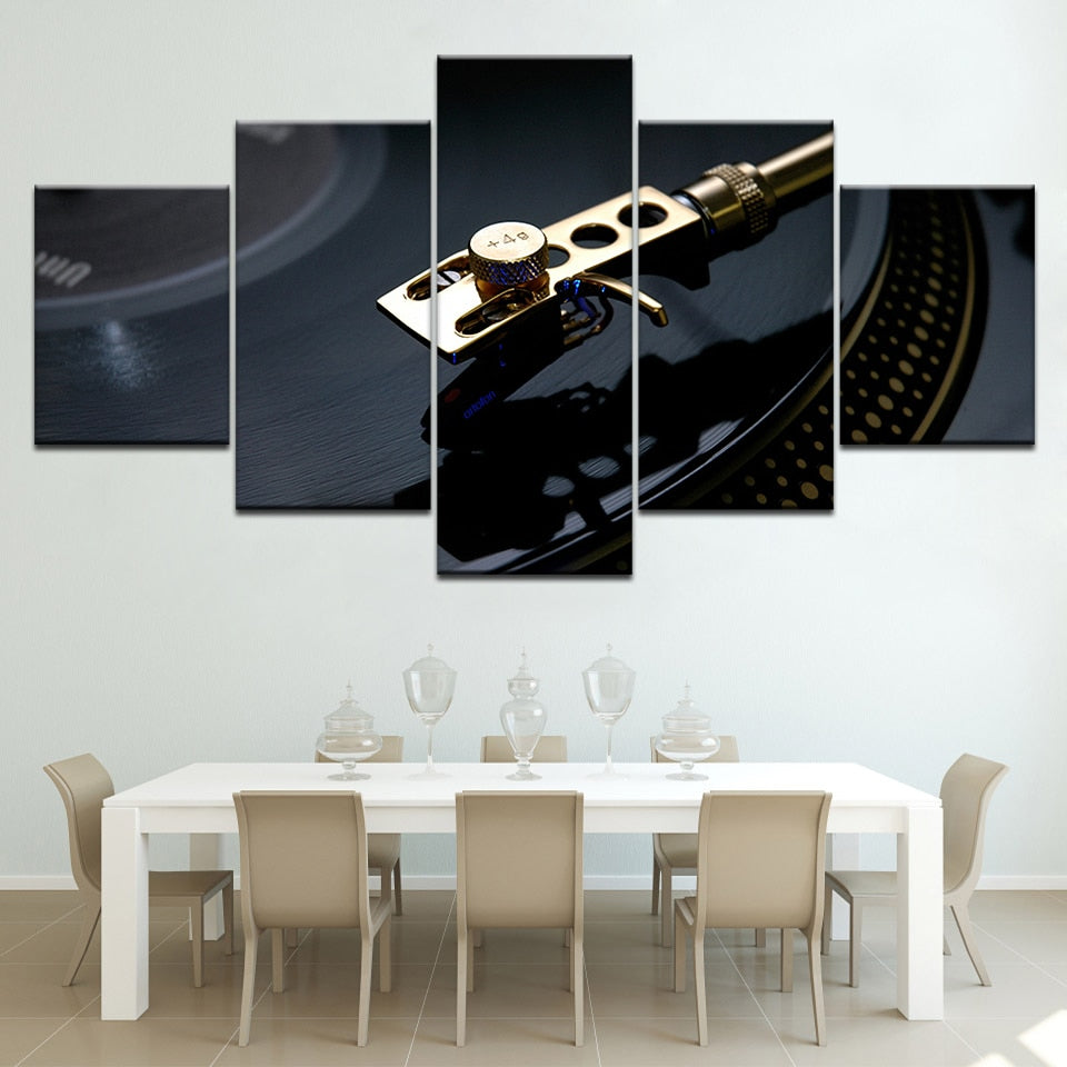 5 PCS Vinyl Records Canvas Art