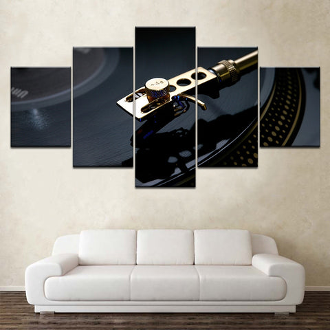 Image of 5 PCS Vinyl Records Canvas Art