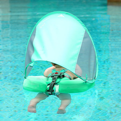Image of Baby Swim Ring with Canopy
