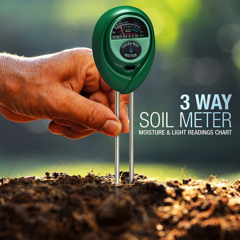 3 in 1 soil PH sunlight water moisture meter