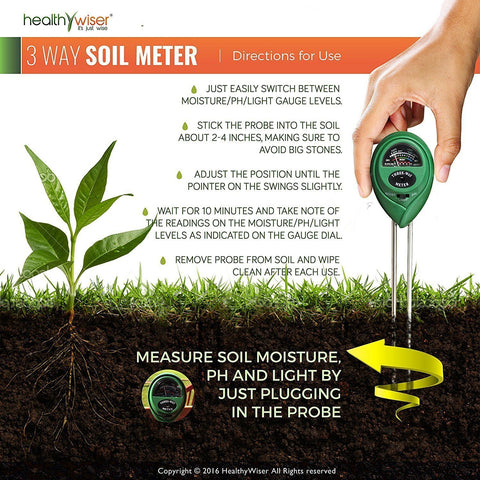 Image of 3 in 1 soil PH sunlight water moisture meter