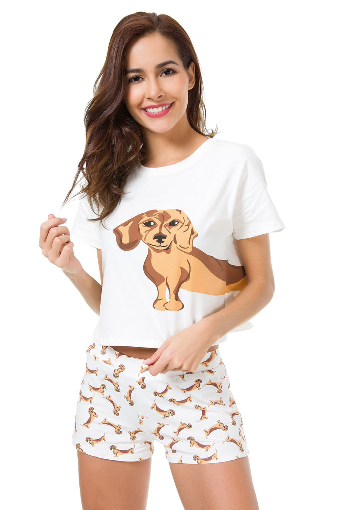 DACHSHUND TWO PIECE PAJAMA SET