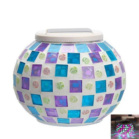 New Solar Powered Mosaic Glass Ball
