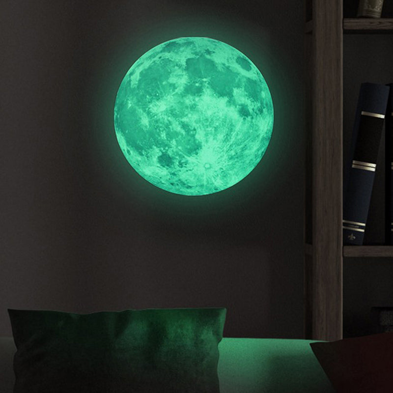 Luminous Art Mural Wall Sticker Moon Glow in the Dark Moonlight For Kids Room Home Decoration Pegatinas De Pared Creative Decals - MytrendyShopping