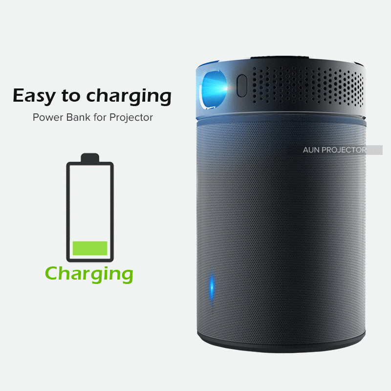AUN Q8™ Portable Projector Bluetooth Speaker Charging Station - ALL 3 IN ONE!