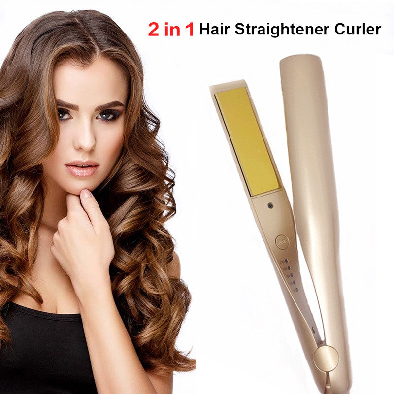 2-in-1 Curling and Straightening Iron - MytrendyShopping
