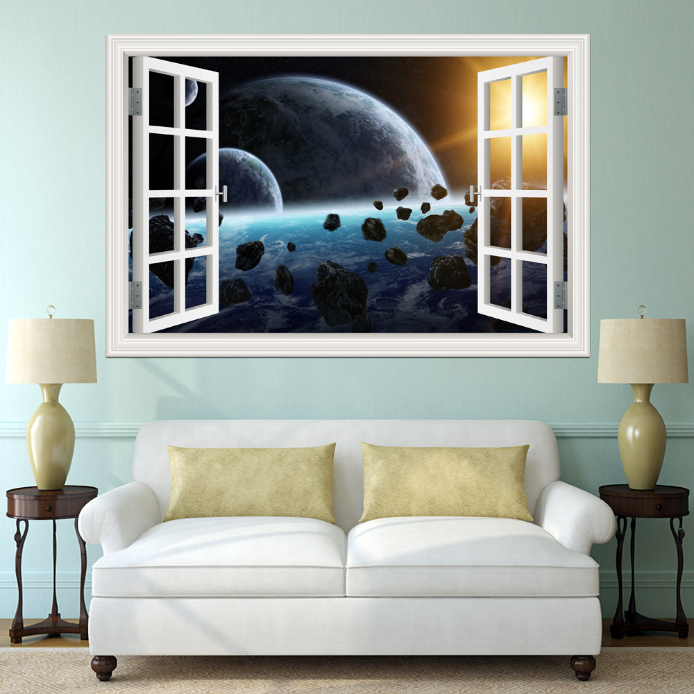 3D PLANET GALAXY WALL STICKER - MytrendyShopping